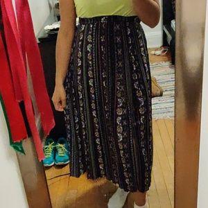 floral skirt w/ slit